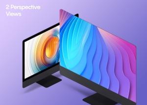 iMac一体机网站UI设计效果图预览样机素材v2 Isometric iMac Mockup 2.0插图4