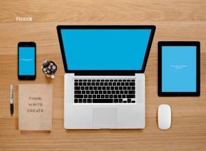 响应式网页设计预览样机套件 Responsive Mock-Up Web Display Kit插图12