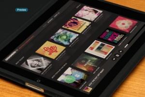 平板APP应用界面设计演示样机模板 Black iPad Tablet App UI Mock-Up插图7