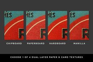 复古怀旧风格火柴盒外观设计图层样式 Super Strike – Matchbook Effects插图3