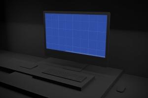 暗黑背景iMac Pro苹果一体机电脑样机模板 Dark iMac Pro插图11