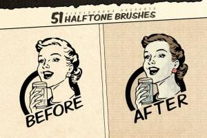 复古美式漫画效果生成Procreate笔刷 Vintage Comic Procreate Brushes插图3