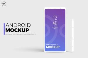 安卓平台概念智能手机样机模板 Android Mobile Mockups插图1