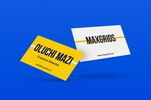 简约企业名片设计样机模板01 Business Card Mockup 01插图2