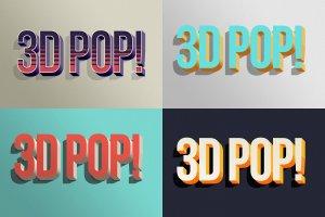 """10款""""吸睛大法""""3D立体文字图层样式 3D POP! Photoshop Effects插图7"""