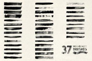 高品质AI手工画笔合集 Classic Strokes by Guerillacraft插图6