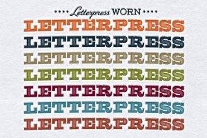 破旧凸版印刷效果照片处理图层样式 Worn Letterpress Photoshop Styles插图3