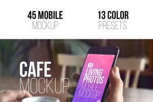 实景iPhone展示样机模板合集 Mobile Mockup Living Photos插图4