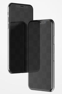 iPhone X手机屏幕设计预览样机模板08 iPhone X Mockup 08插图2
