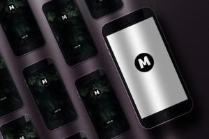 8个企业品牌VI标识设计预览办公用品等距场景样机模板 8 Identity Stationery Mockups插图4