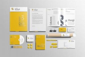 企业品牌VI办公用品样机设计模板V3 Branding-Stationery Mockups V3插图4