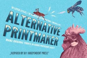 朋克文化DIY印刷品和GIG海报PS图层样式合集 Alternative Printmaker插图1