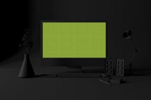 酷黑办公场所MacBook Pro设备样机 Dark Mac Pro插图9