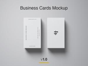 商业/个人名片设计样机模板插图1