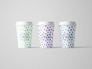 7个咖啡纸杯设计图PSD样机模板 7 PSD Coffee Cup Mockups插图6