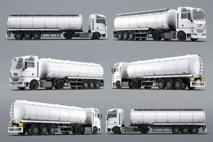 半挂车半挂卡车外观喷漆图案样机模板 Trucks Mock-Up插图13