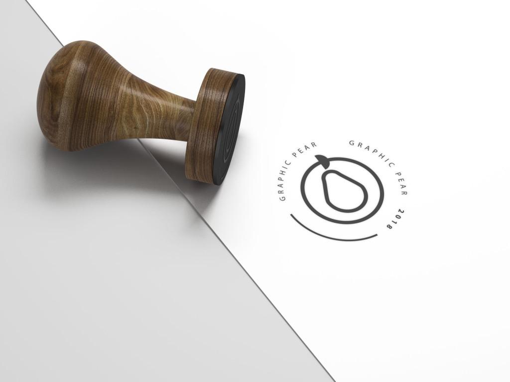 Logo设计效果预览印章样机模板 Stamp Mockup – Photoshop Smart Object插图