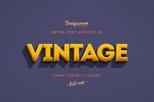 10款复古文本标题3D立体效果PS图层样式 Retro Text Effects V01插图8