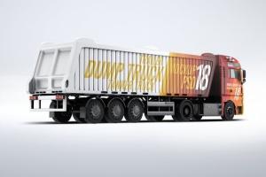 半挂车半挂卡车外观喷漆图案样机模板 Trucks Mock-Up插图5