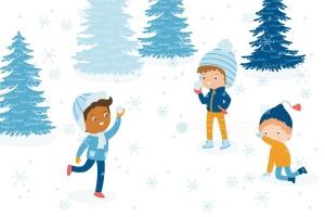 冬天儿童乐园矢量插画设计素材 Winter Fun Vector Graphic Set插图(4)