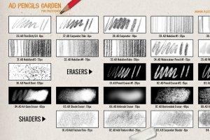 超级ps铅笔笔刷大合集 The Pencils Garden插图4