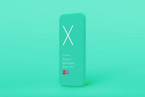 极简主义iPhone X样机模板 Phone X Minimalistic Mock-Ups插图3