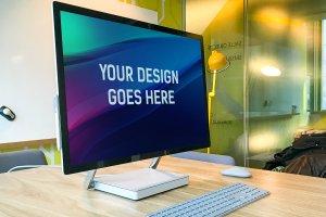 微软studio工作站样机展示模型mockups插图1