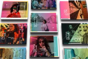 设计媒体创意设计效果图预览等距网格样机模板02 Landscape Perspective Mockup 02插图5