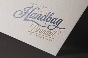 3款Logo设计印刷效果图样机模板 3 Paper Logo Mockups插图4