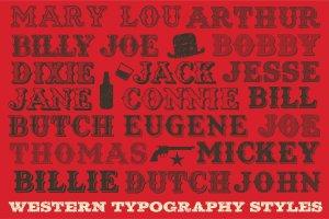 复古西部牛仔电影风格AI图层样式 Western Typography Saloon插图8