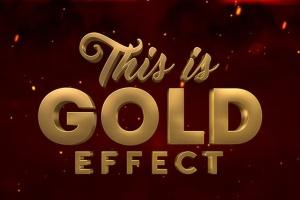 10款3D金色金属字体效果PSD分层模板 3D Metal & Gold Effects插图4