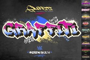 10款炫酷涂鸦效果字体样式PSD分层模板v2 Graffiti Text Effects – 10 PSD – vol 2插图1