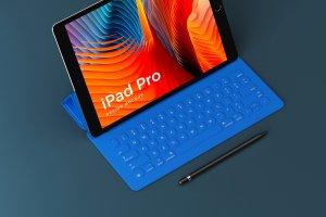 多角度的iPad Pro展示模型Mockup下载[psd]插图4