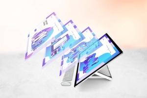 微软一体机电脑样机模板 Surface Studio Mockup V.2插图2