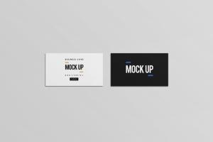 等距平铺企业名片设计样机模板 Business Card Mock Up插图4