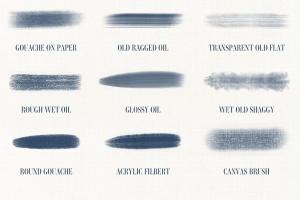 油画水彩画插画师必备Procreate美术画笔笔刷 Art Brushes for Procreate插图(6)