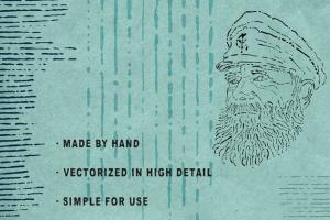墨水复古插图创作必备AI笔刷 Ink Age Brushes for Adobe Illustrator插图(4)