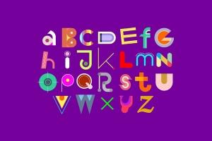 装饰字体&26字母设计矢量设计素材 Decorative Font Design & Lettering插图1