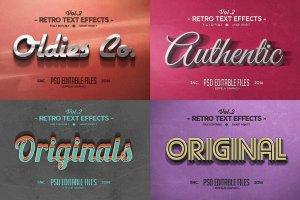 复古文本图层 样机v2 Vintage Text Effects Vol.2插图3