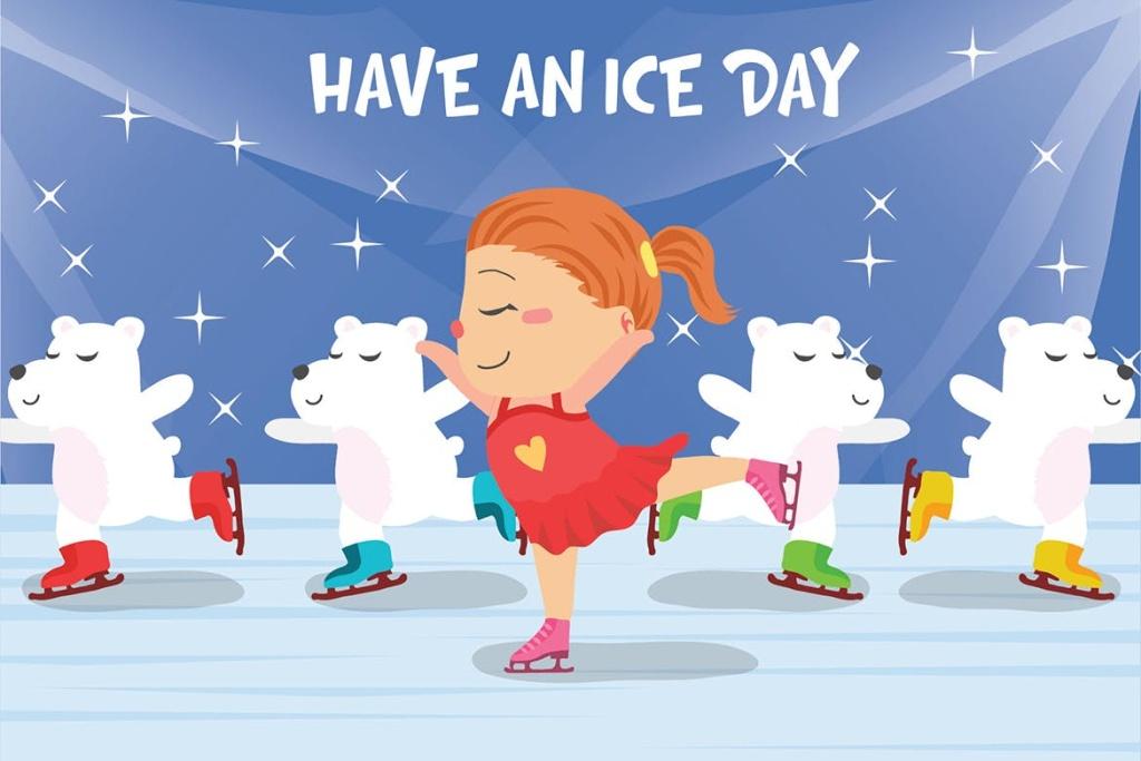 滑冰主题矢量插画素材 Ice Skating – Vector Illustration插图