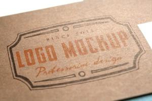 烫印烫金Logo样机模板 Logo Mock-Up插图4