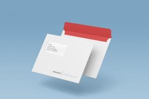 公司/企业信封设计样机模板 Envelope C5 / C6 Mock-up插图6