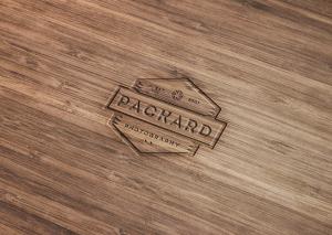 木刻效果Logo设计效果图样机模板 Wood Engraved Logo Mockup with Photoshop插图1