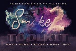 烟雾萦绕视觉特效PS素材大礼包[3.03GB] Smoke Toolkit 2插图1