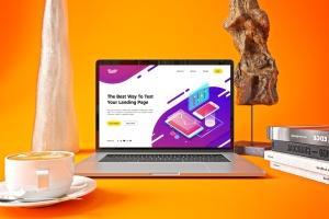 时尚高端渐变绚丽色彩的MacBook Pro UI样机展示模型mockups插图4