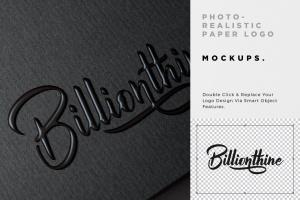 逼真Logo商标印刷效果图样机模板 Photorealistic Paper Logo Mockups插图5