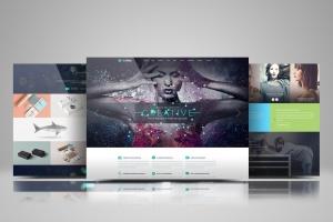 网站设计效果图多视觉预览样机模板 Website Display Mockup插图1