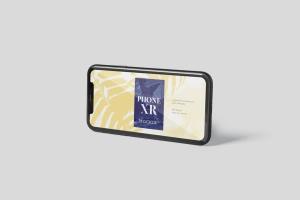 iPhone XR智能手机多角度屏幕预览样机模板 Phone XR Mockup插图3