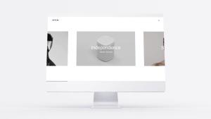 网站UI界面设计效果图预览白色iMac电脑样机模板 White iMac Mockup插图5