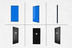 三星智能手机Note 10多角度预览样机模板 Note10 Kit插图2